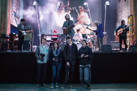 The YIF photog crew during soundcheck